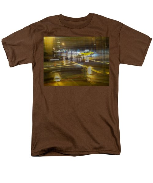 Men's T-Shirt  (Regular Fit) featuring the photograph Wet Pavement by Alex Lapidus