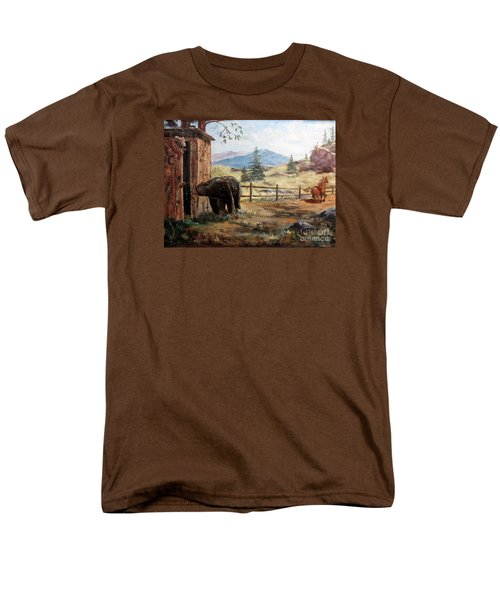 Men's T-Shirt  (Regular Fit) featuring the painting What Now by Lee Piper