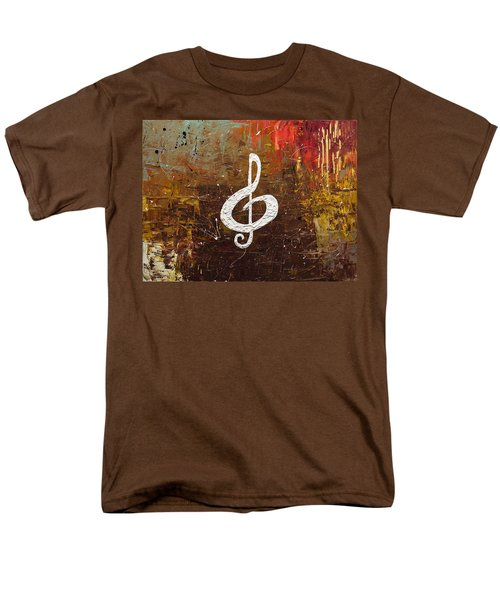 White Clef Men's T-Shirt  (Regular Fit) by Carmen Guedez
