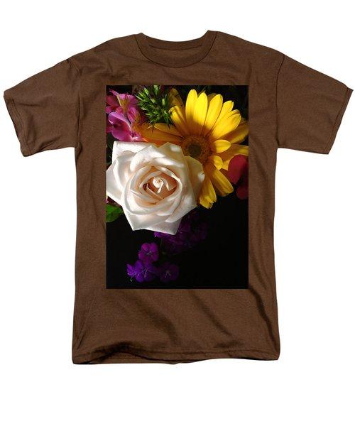 Men's T-Shirt  (Regular Fit) featuring the photograph White Rose by Meghan at FireBonnet Art