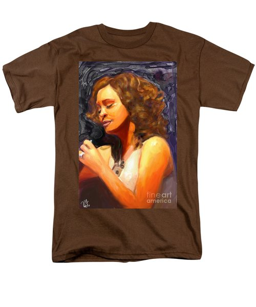 Men's T-Shirt  (Regular Fit) featuring the painting Whitney Gone Too Soon by Vannetta Ferguson
