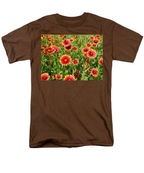 Men's T-Shirt  (Regular Fit) featuring the photograph Wild Red Daisies #4 by Robert ONeil