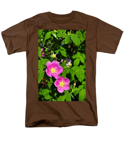 Men's T-Shirt  (Regular Fit) featuring the photograph Wild Roses by Cathy Mahnke