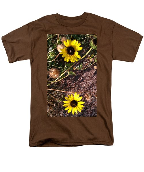 Men's T-Shirt  (Regular Fit) featuring the photograph Wild Sunflowers by Fortunate Findings Shirley Dickerson