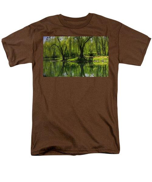 Willows Weep Into Their Reflection  Men's T-Shirt  (Regular Fit) by LeeAnn McLaneGoetz McLaneGoetzStudioLLCcom