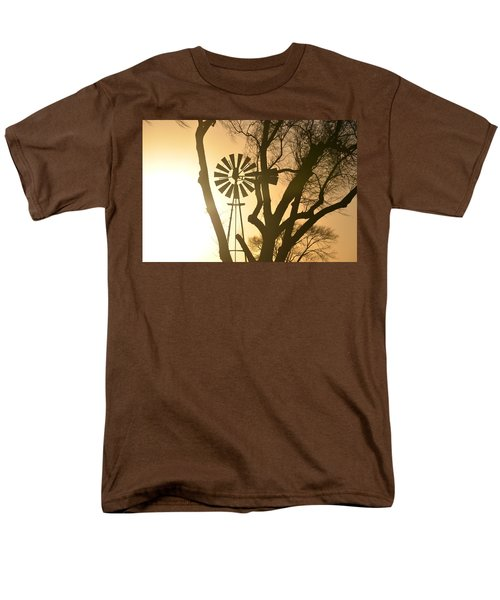 Men's T-Shirt  (Regular Fit) featuring the photograph Spinning In The Sundown by Clarice  Lakota