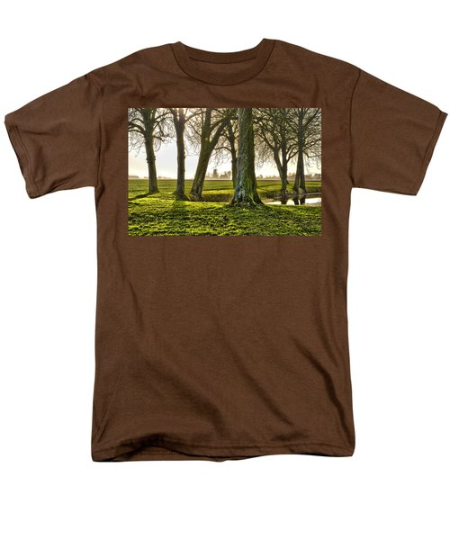 Windmill And Trees In Groningen Men's T-Shirt  (Regular Fit) by Frans Blok