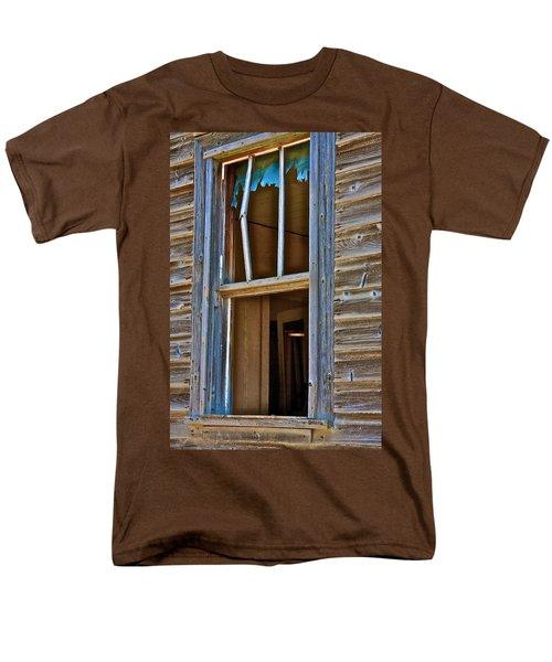 Men's T-Shirt  (Regular Fit) featuring the photograph Window With A Light by Johanna Bruwer