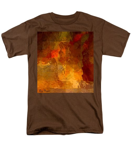 Wine By Candlelight Men's T-Shirt  (Regular Fit) by Lisa Kaiser