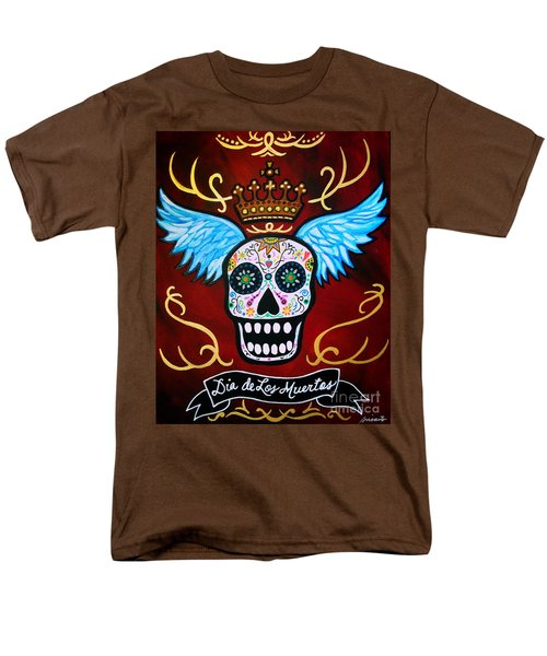 Men's T-Shirt  (Regular Fit) featuring the painting Winged Muertos by Pristine Cartera Turkus