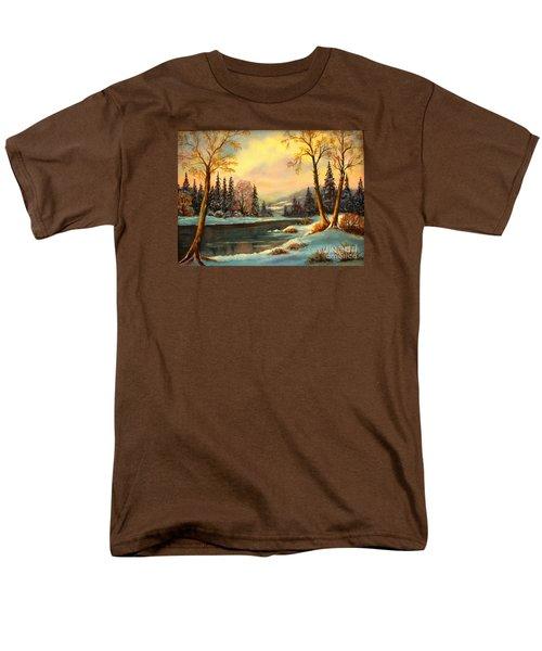 Winter Splendor Men's T-Shirt  (Regular Fit) by Hazel Holland