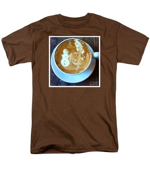 Winter Warmth Latte Men's T-Shirt  (Regular Fit) by Susan Garren