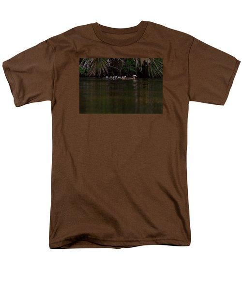Wood Duck And Ducklings Men's T-Shirt  (Regular Fit) by Paul Rebmann