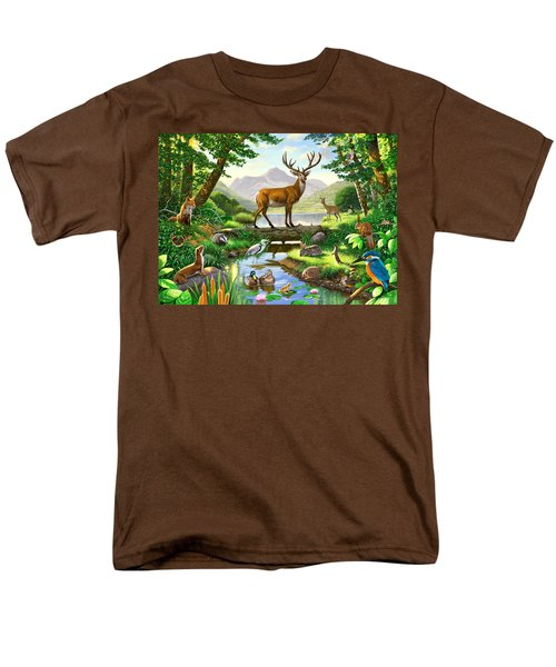 Woodland Harmony Men's T-Shirt  (Regular Fit)