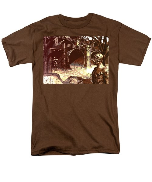 Men's T-Shirt  (Regular Fit) featuring the digital art World Of Ruin by John Alexander