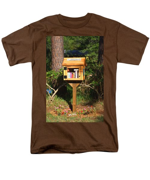 Men's T-Shirt  (Regular Fit) featuring the photograph World's Smallest Library by Gordon Elwell