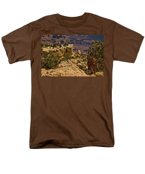Men's T-Shirt  (Regular Fit) featuring the photograph Yaki Point 3 The Grand Canyon by Bob and Nadine Johnston
