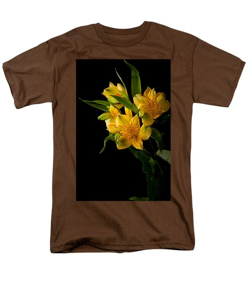 Men's T-Shirt  (Regular Fit) featuring the photograph Yellow Flowers by Sennie Pierson