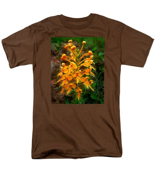 Men's T-Shirt  (Regular Fit) featuring the photograph Wild Yellow Fringed Orchid by William Tanneberger