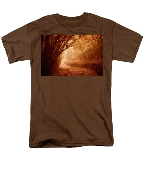 Yellow Leaf Road Men's T-Shirt  (Regular Fit)