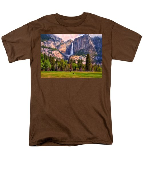 Yosemite Falls Men's T-Shirt  (Regular Fit) by Michael Pickett