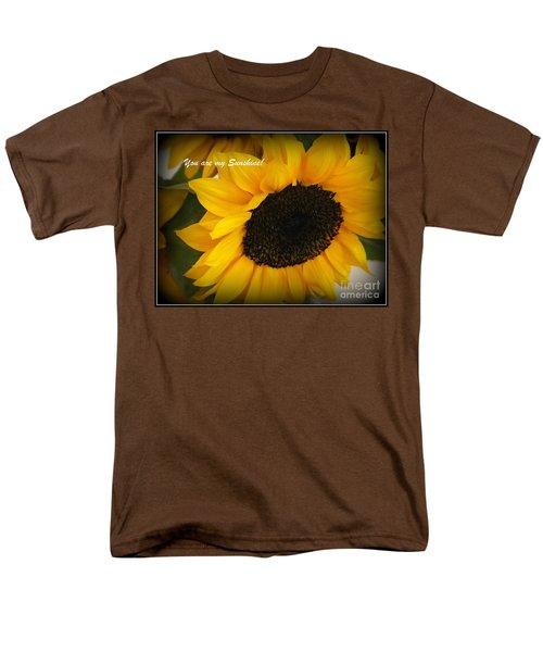 You Are My Sunshine - Greeting Card Men's T-Shirt  (Regular Fit) by Dora Sofia Caputo Photographic Art and Design