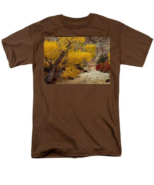 Zion National Park Autumn Men's T-Shirt  (Regular Fit) by Leland D Howard