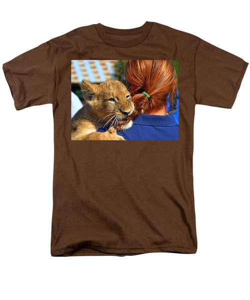 Zootography3 Zion The Lion Cub Likes Redheads Men's T-Shirt  (Regular Fit) by Jeff at JSJ Photography