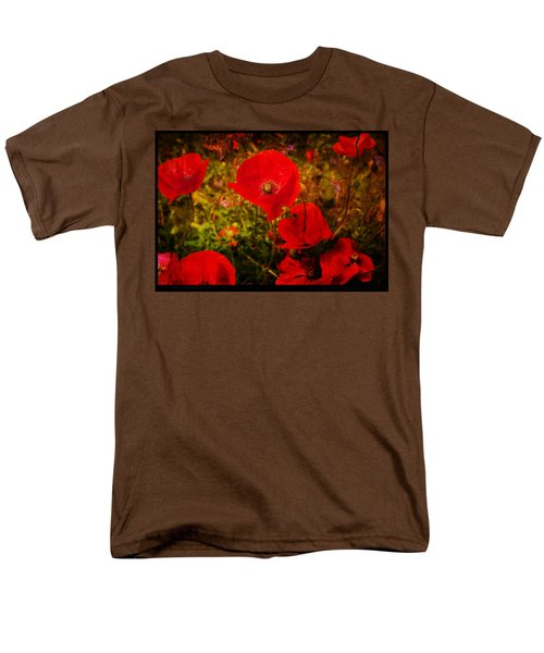 Men's T-Shirt  (Regular Fit) featuring the photograph  Poppies by Beverly Cash