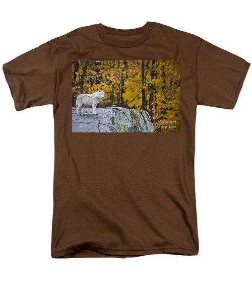 Arctic Wolf Men's T-Shirt  (Regular Fit) by Michael Cummings
