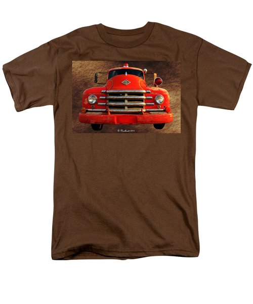 1955 Diamond T Grille - The Cadillac Of Trucks Men's T-Shirt  (Regular Fit) by Betty Northcutt