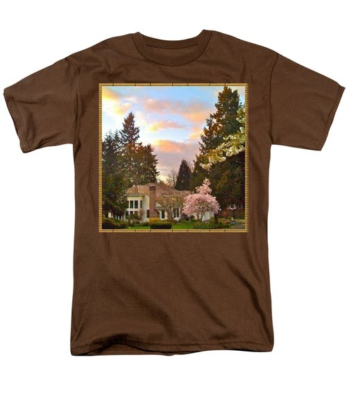 A Spring Evening - Lake Oswego Or Men's T-Shirt  (Regular Fit) by Anna Porter