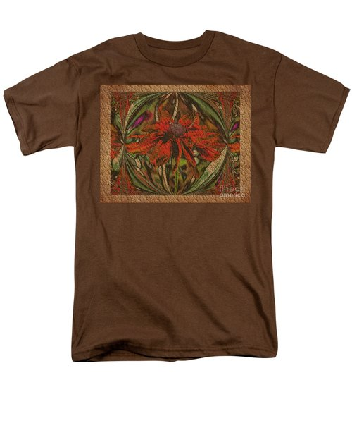Abstract Flower Men's T-Shirt  (Regular Fit) by Smilin Eyes  Treasures