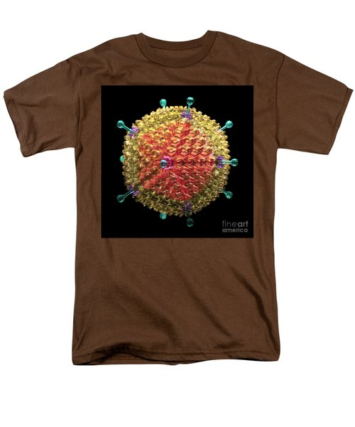 Adenovirus 36 Men's T-Shirt  (Regular Fit) by Russell Kightley