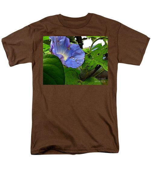 Men's T-Shirt  (Regular Fit) featuring the digital art Aging Morning Glory by Debbie Portwood