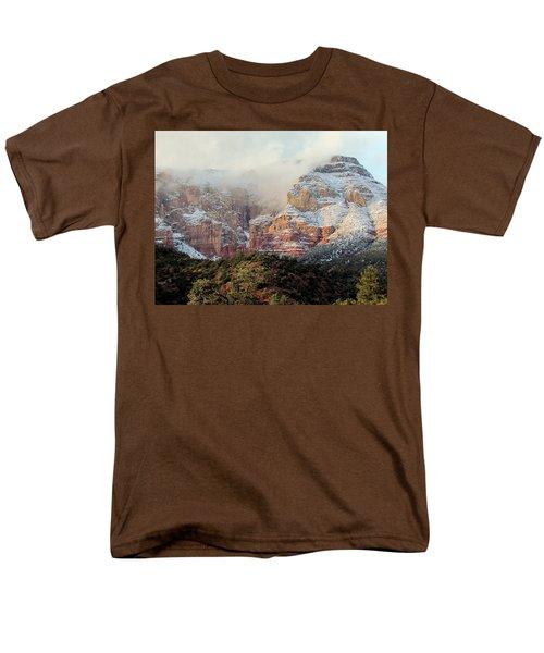 Arizona Snowstorm Men's T-Shirt  (Regular Fit) by Judy Wanamaker