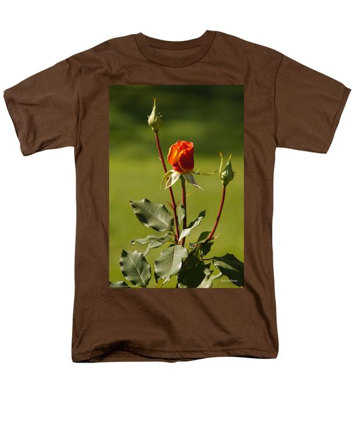 Men's T-Shirt  (Regular Fit) featuring the photograph Autumn Rose by Mick Anderson