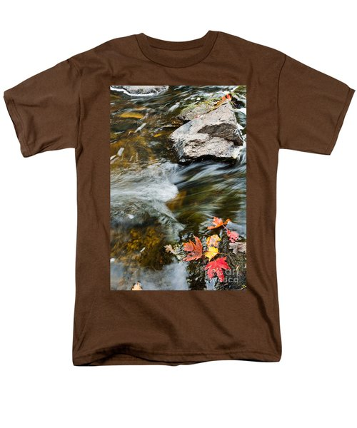 Men's T-Shirt  (Regular Fit) featuring the photograph Autumn Stream by Cheryl Baxter