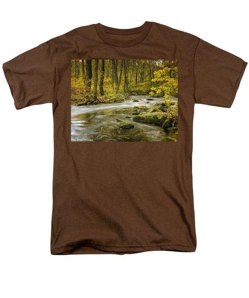 Babbling Brook Men's T-Shirt  (Regular Fit) by Fran Gallogly