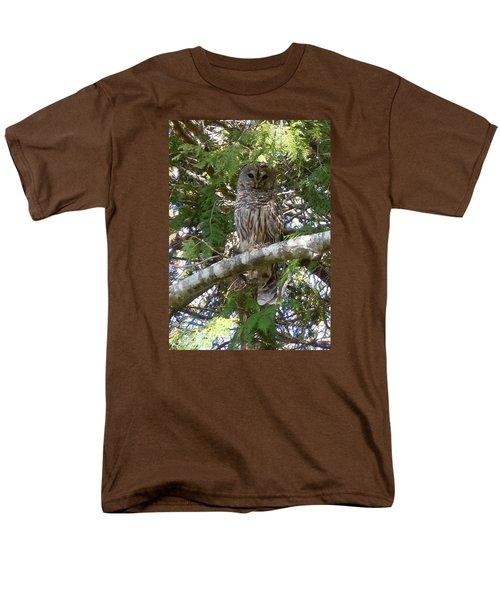 Barred Owl  Men's T-Shirt  (Regular Fit) by Francine Frank
