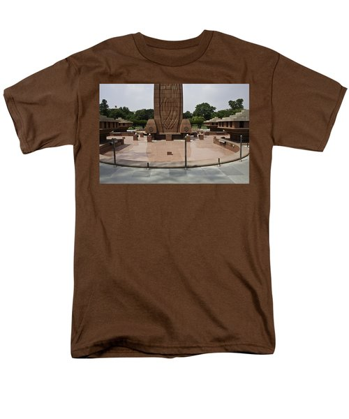 Men's T-Shirt  (Regular Fit) featuring the photograph Base Of The Jallianwala Bagh Memorial In Amritsar by Ashish Agarwal