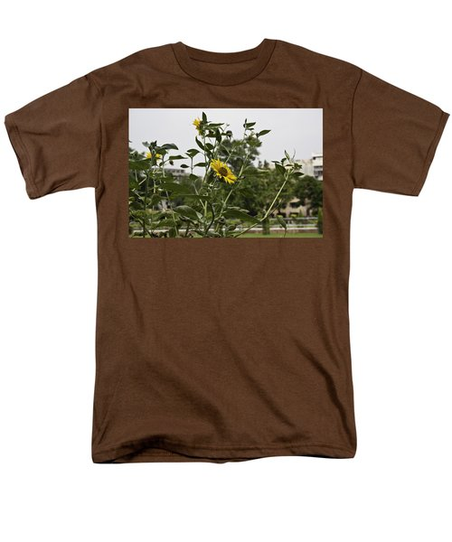 Men's T-Shirt  (Regular Fit) featuring the photograph Beautiful Yellow Flower In A Garden by Ashish Agarwal