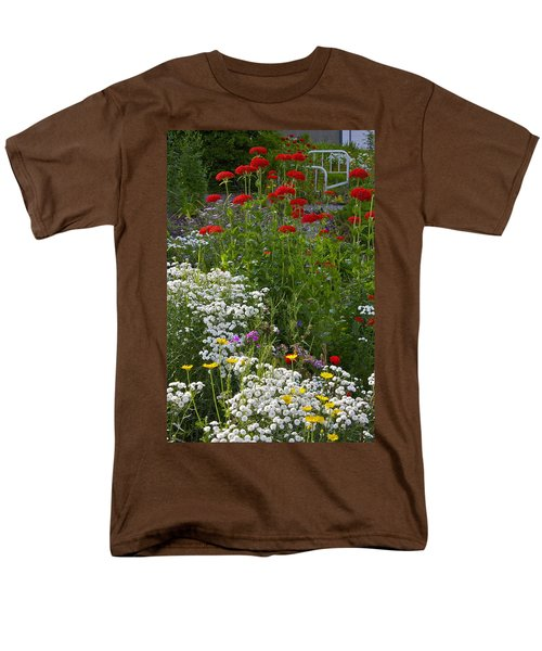Men's T-Shirt  (Regular Fit) featuring the photograph Bed Of Flowers by Johanna Bruwer