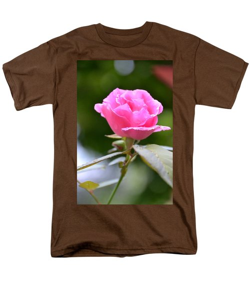 Bubblegum Rose Men's T-Shirt  (Regular Fit) by Bonnie Myszka