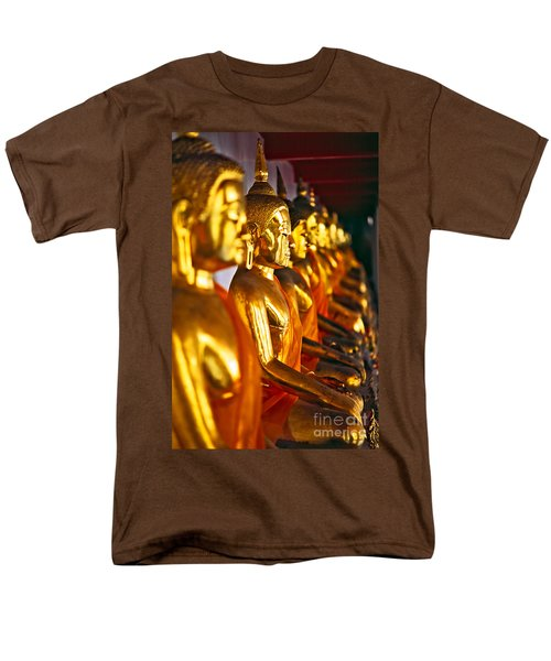 Men's T-Shirt  (Regular Fit) featuring the photograph Buddhas by Luciano Mortula
