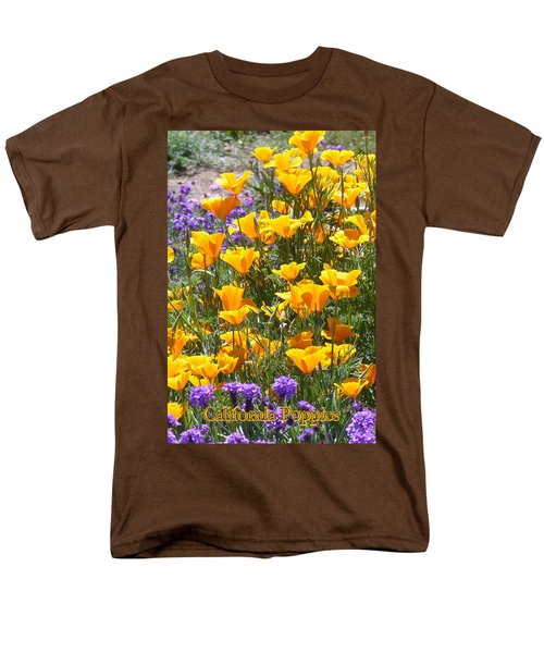 Men's T-Shirt  (Regular Fit) featuring the photograph California Poppies by Carla Parris