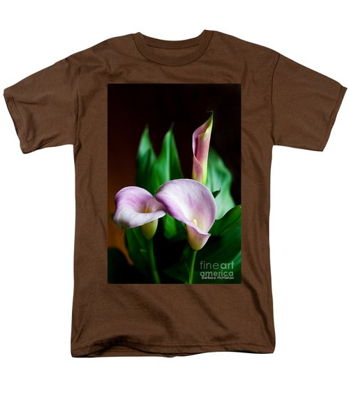 Men's T-Shirt  (Regular Fit) featuring the photograph Calla Lily by Barbara McMahon