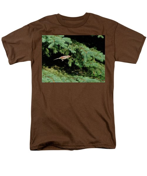 Men's T-Shirt  (Regular Fit) featuring the photograph Cardinal Just A Hop Away by Thomas Woolworth