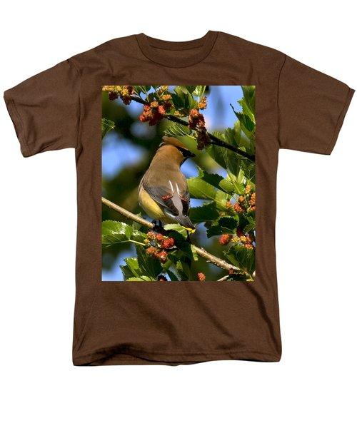 Men's T-Shirt  (Regular Fit) featuring the photograph Cedar Waxwing Dsb056 by Gerry Gantt