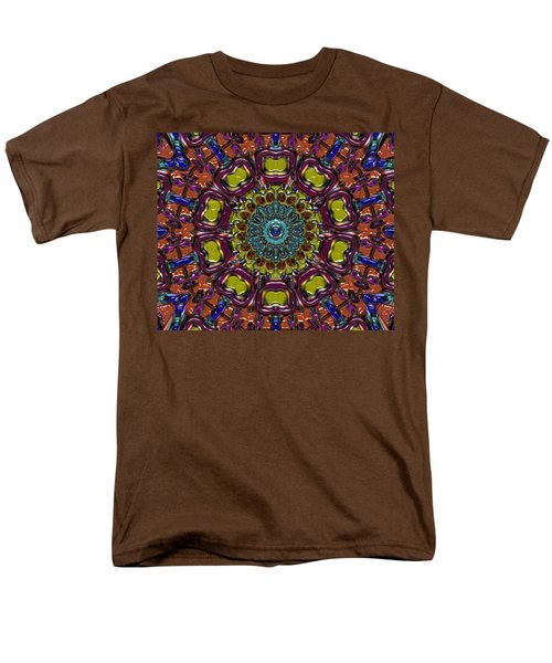 Men's T-Shirt  (Regular Fit) featuring the digital art Chapel Window by Alec Drake